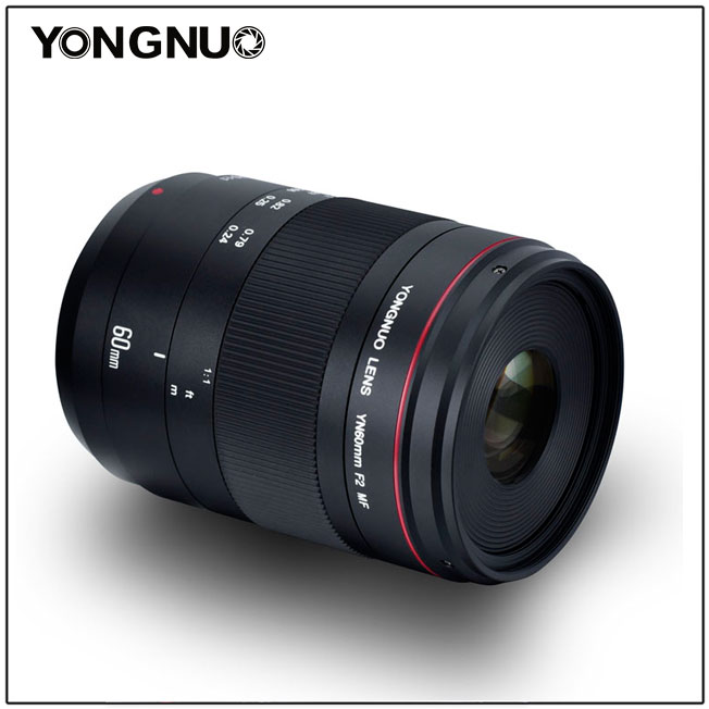 Объектив Yongnuo YN 60mm f/2 MF, вид сбоку
