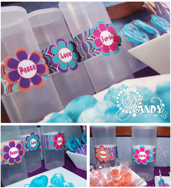 candy bar containers, peace party candy bar