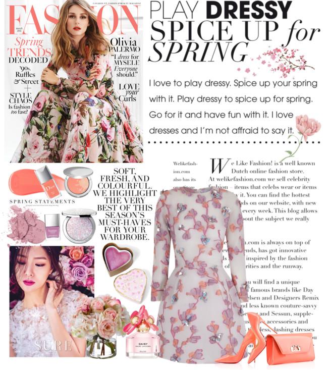 Jelena Zivanovic Instagram @lelazivanovic.Glam fab week.Christian Louboutin orange pumps and clutch.Most beautiful floral dresses.