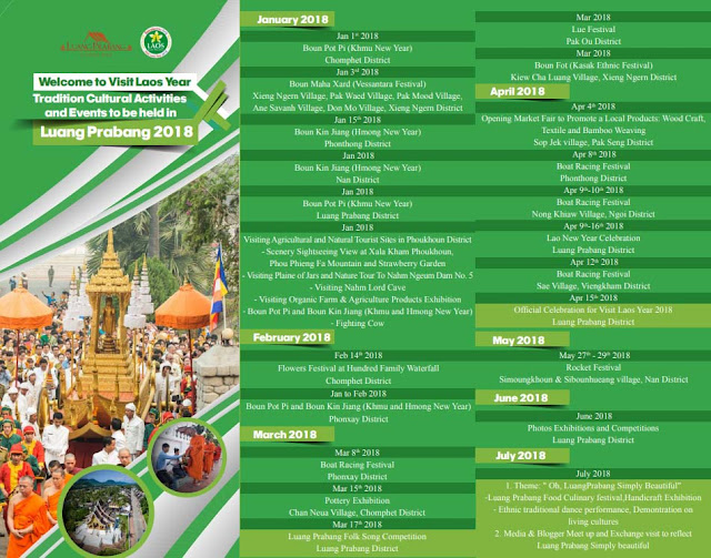 Visit Laos Year 2018 - Event Schedules - Luangprabang