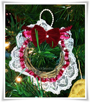 Grapevine Mini Wreath Handmade Ornament