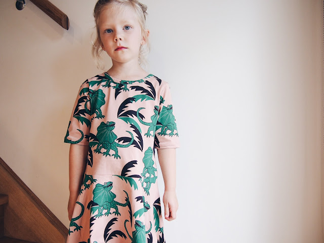 Mini Rodini Draco Dance Dress Lizard Pink