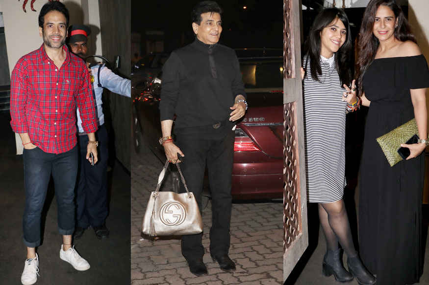 Tusshar Kapoor, Jitendra and Mona Singh Celebrating Ekta Kapoor Birthday