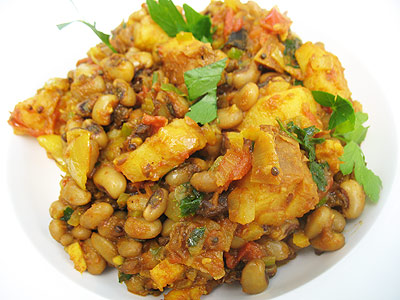 Black eyed peas with potatoes and tamarind lisas kitchen black eyed pea curry forumfinder Image collections