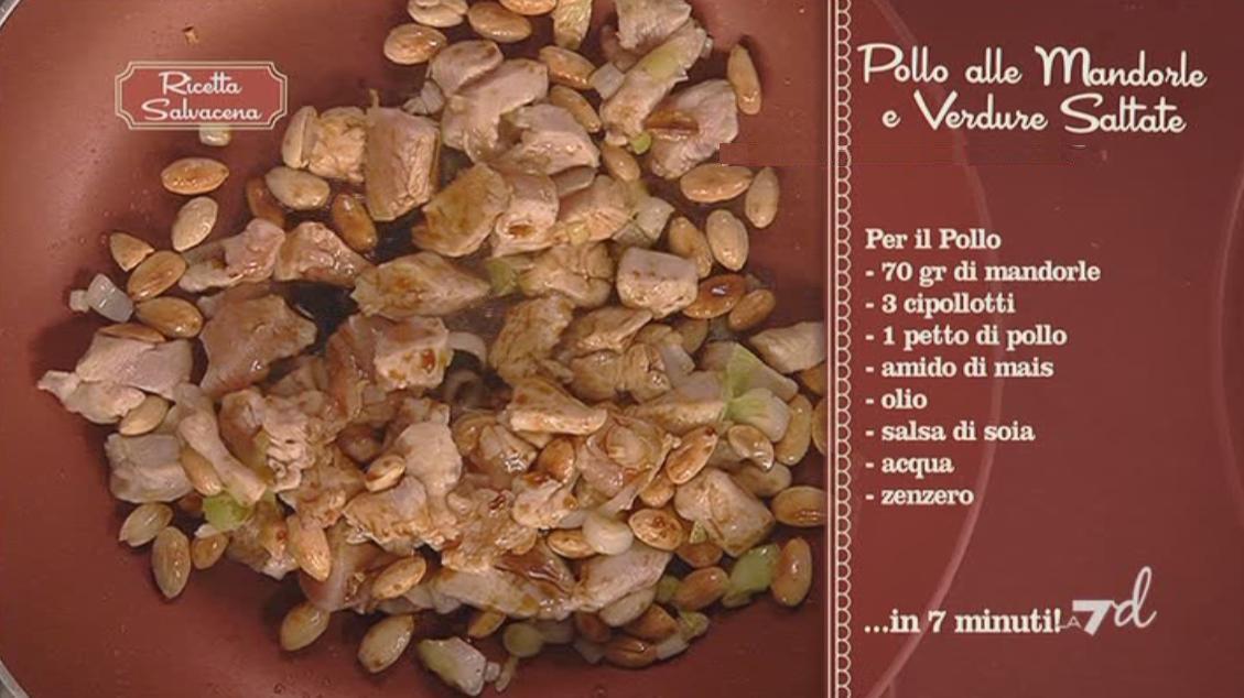 Pollo alle Mandorle con Riso e Verdure Caramellate ricetta Parodi ...