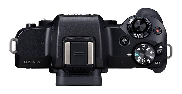 Canon EOS M50 Mirrorless Camera Top View