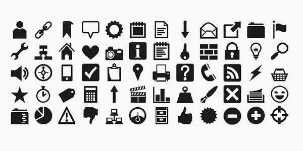 A Free Icon Web Font by by Heydon Pickering