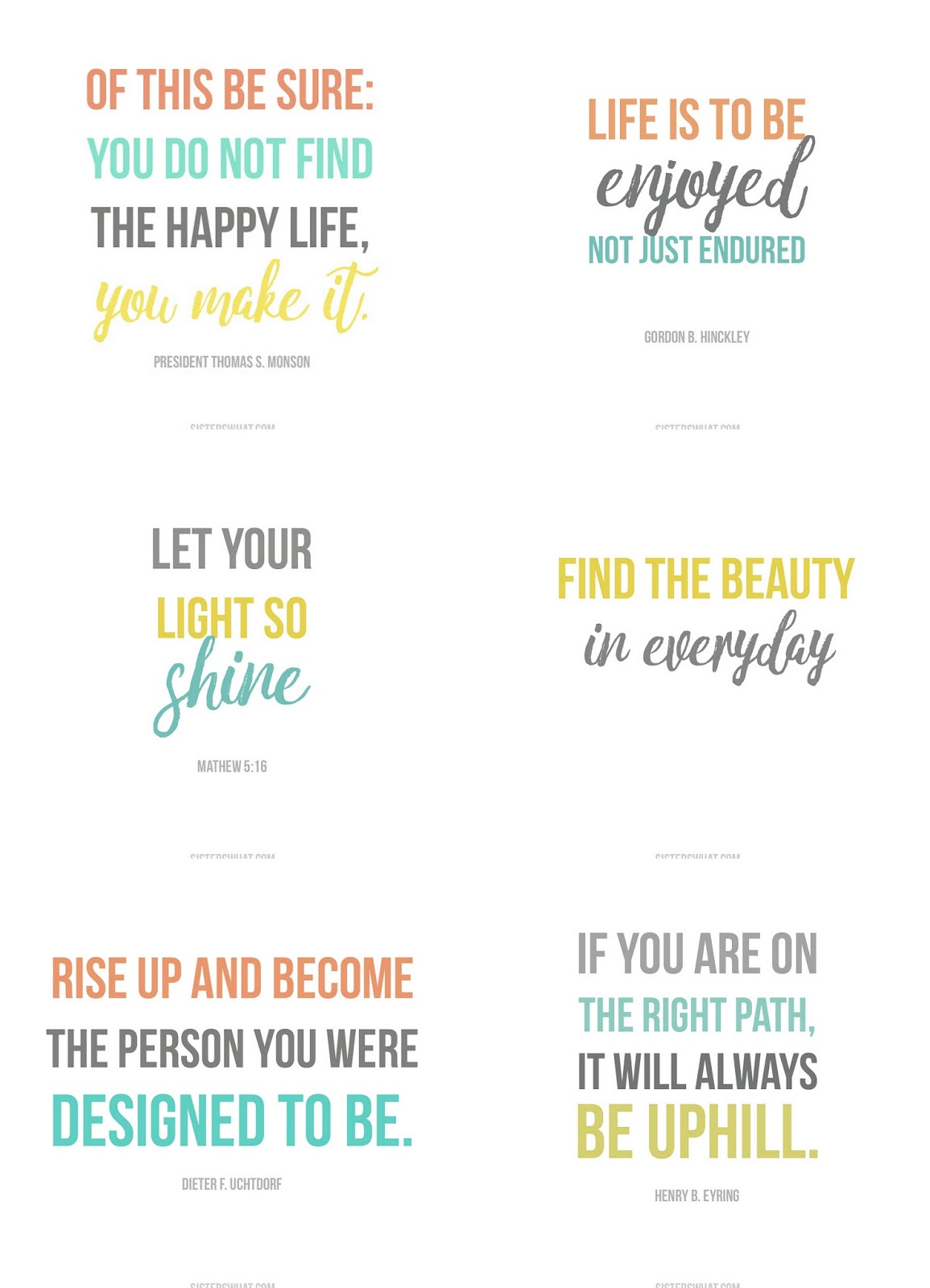 Free Inspirational Quotes Entrancing Inspirational Quotes Free Printables  Sisters What
