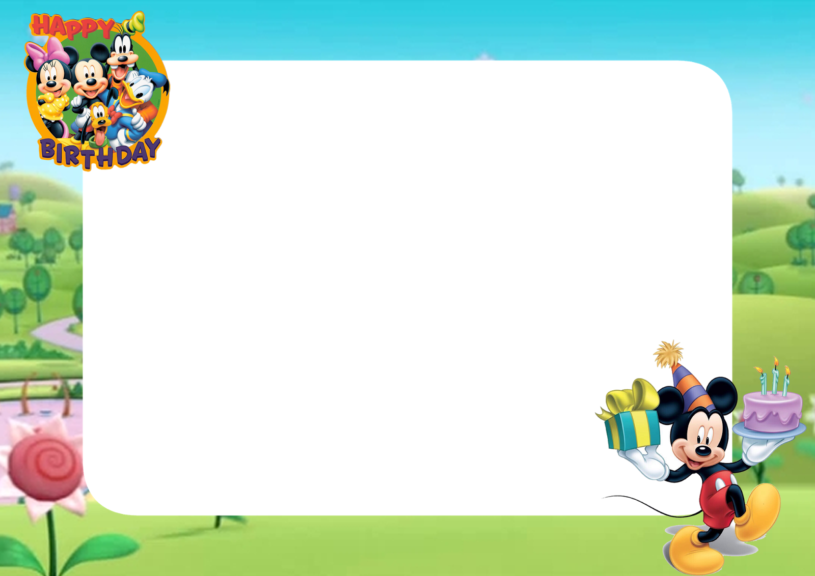 Mickey Mouse And Friends Clipart Kid