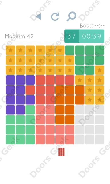 Cheats, Walkthrough for Blocks and Shapes Medium Level 42
