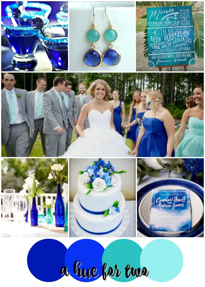 Cobalt and Aqua Shades of Blue Wedding Colour Scheme | A Hue For Two