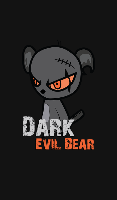 Dark Evil Bear Orange
