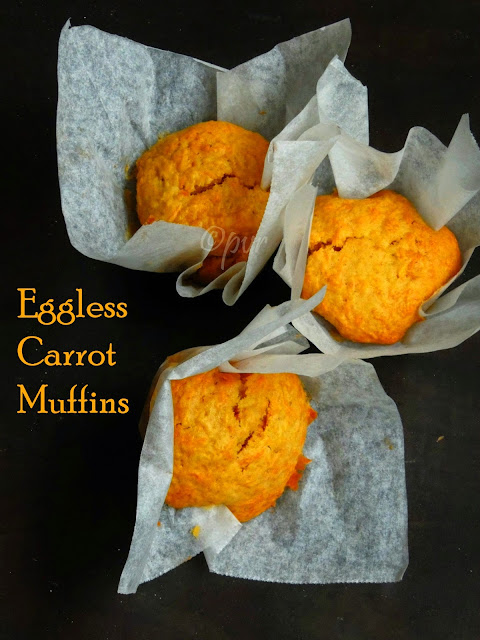 Butterless Carrot muffins