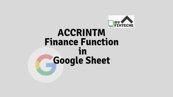 ACCRINTM Finance Function