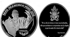 BCR lanza medalla de plata conmemorativa por visita de Papa Francisco al Perú «Unidos por la Esperanza» www.bcrp.gob.pe