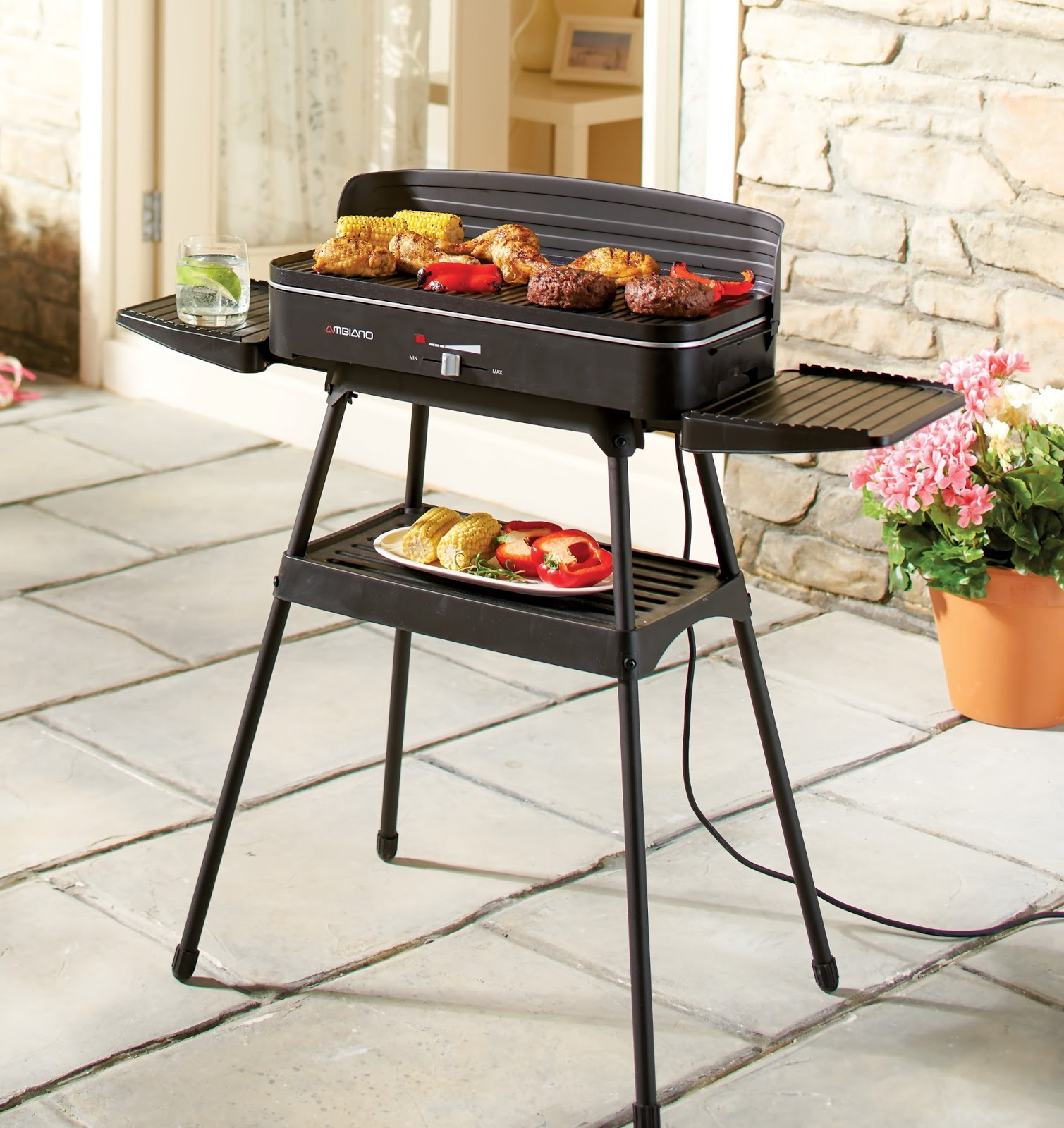 review ambiano electric grill the test pit. Black Bedroom Furniture Sets. Home Design Ideas