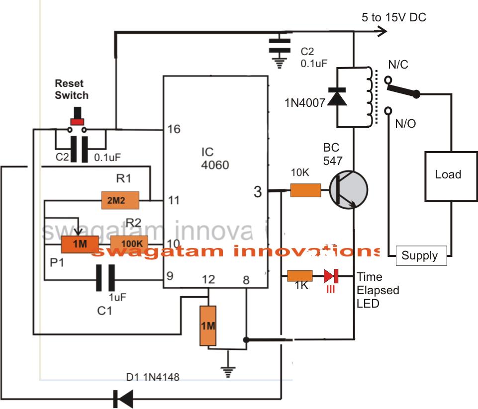 simple adjustable industrial timer circuit [ 961 x 823 Pixel ]