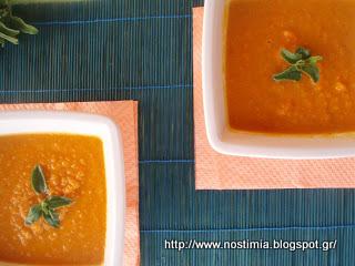 Σούπα με καρότο, κάστανο και άρωμα φασκόμηλου-Carrot chestnut sage soup