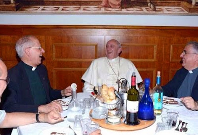 Pope Francis liquid lunch