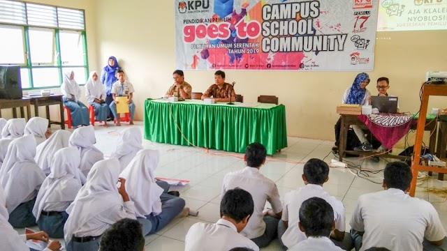 KPU Gost to School di SMAN 1 Sirampog