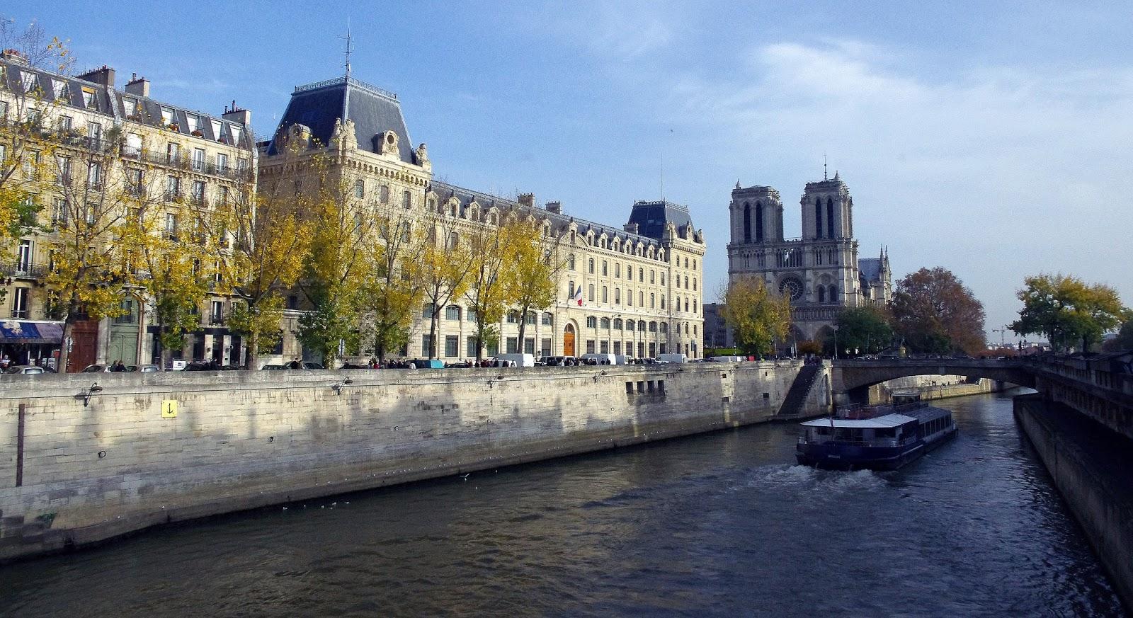 View of Seine and Notre Dame Paris
