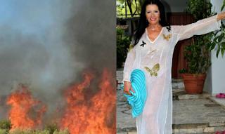 Eγκατέλειψε τη βίλα της στην Κινέτα η Ζωζώ Σαμπουντζάκη: «Δεν άντεχα τον καπνό»