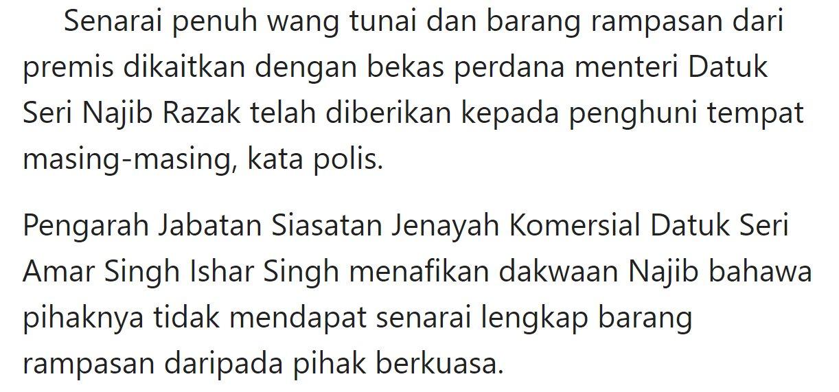 Amar Singh Apa Lagi Najib Nak Semasa Malaysia