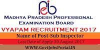 Madhya Pradesh Professional Examination Board – Sub Inspector