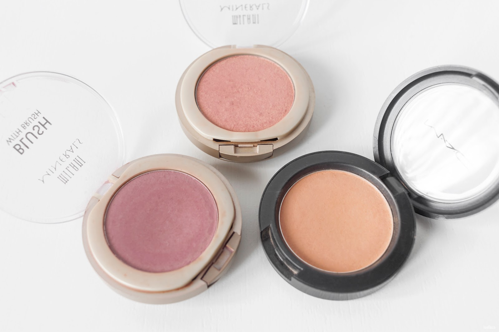 lavlilacs 2018 Project Make a Dent - half year - Milani Minerals Blushes in Sweet Rose and Luminous, MAC Cosmetics My Highland Honey
