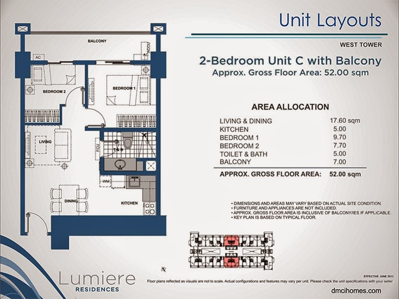 Lumiere Residences 2 Bedroom C 52