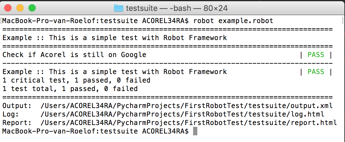First Steps into Automated Testing - Acorel