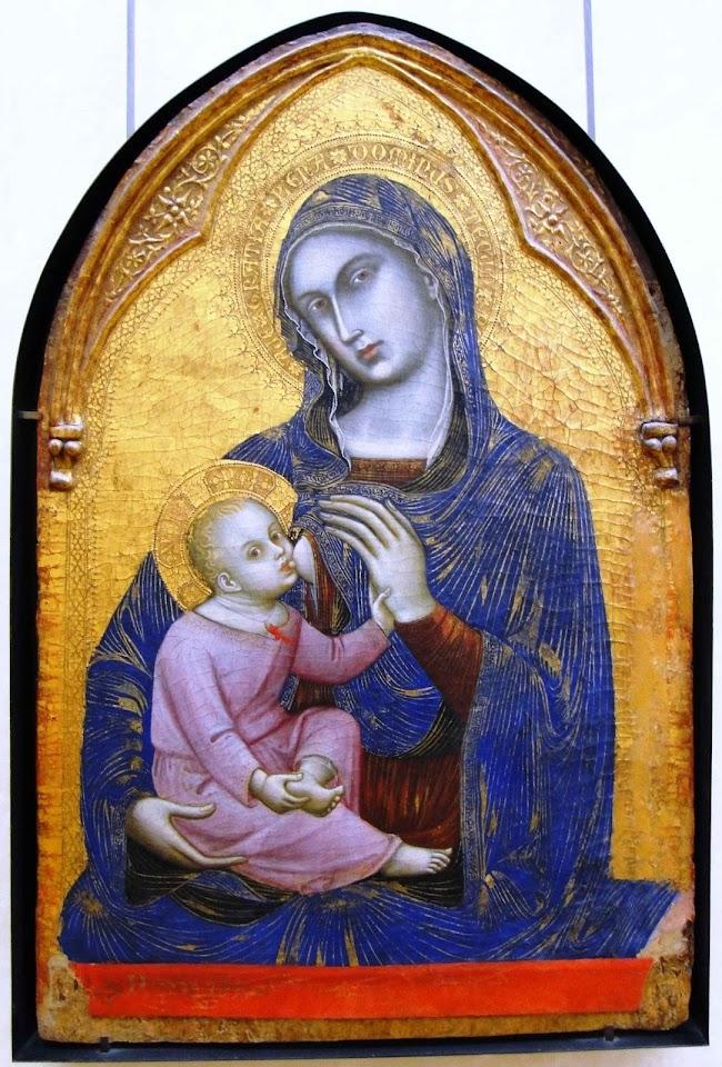 Nossa Senhora com o Menino Jesus. Barnaba da Modena (1328-1386), Museu do Louvre, Paris.