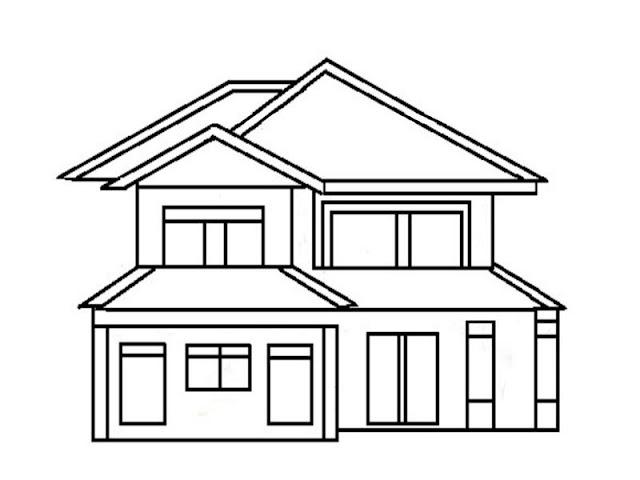 Gambar Mewarnai Rumah Bertingkat Gambar Mewarnai Rumah