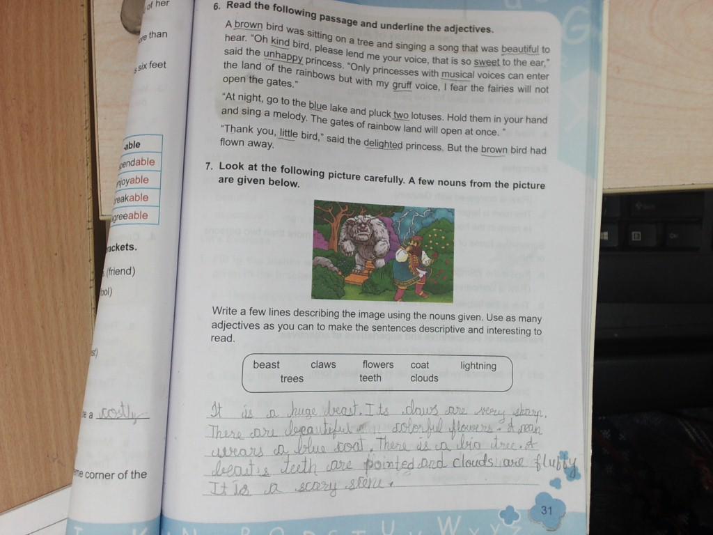 English Grammar pg no 28 to 31 ,workbook pg 52,to 55 | Standard 3