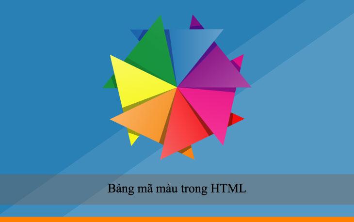 Bảng mã màu trong HTML