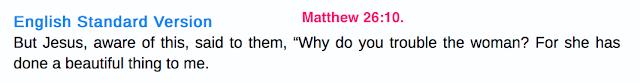 Matthew 26:10