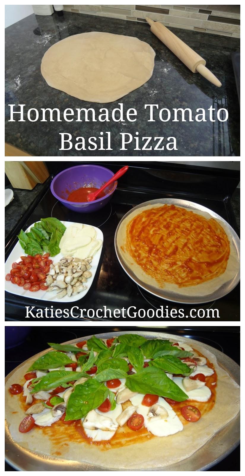 homemade tomato basil pizza recipe