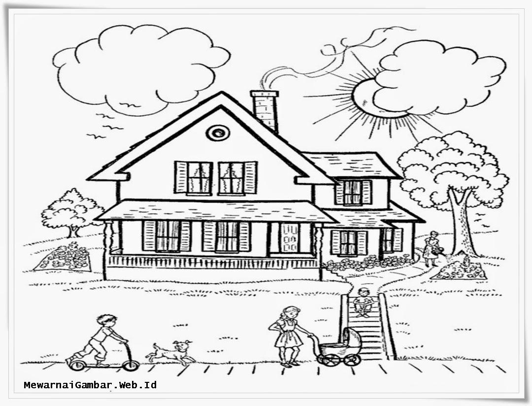 Gambar Sekolah Animasi Hitam Putih Nusagates