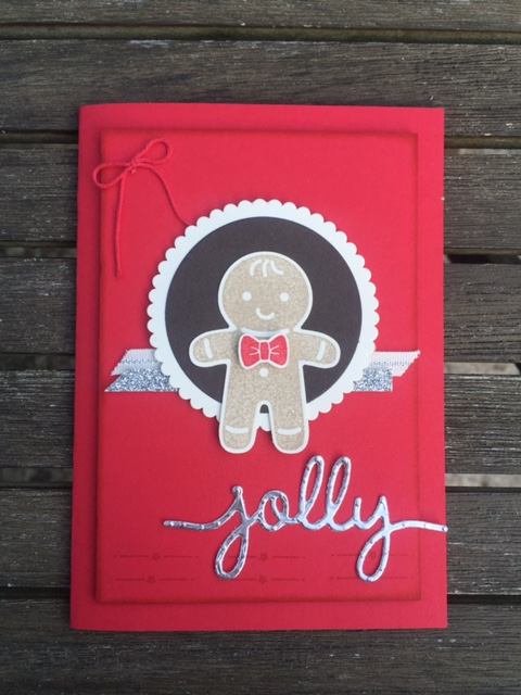 kerry timms cookie cutter punch stamps gingerbread man handmade card card making class gloucester christmas craft papercraft hobby female xmas