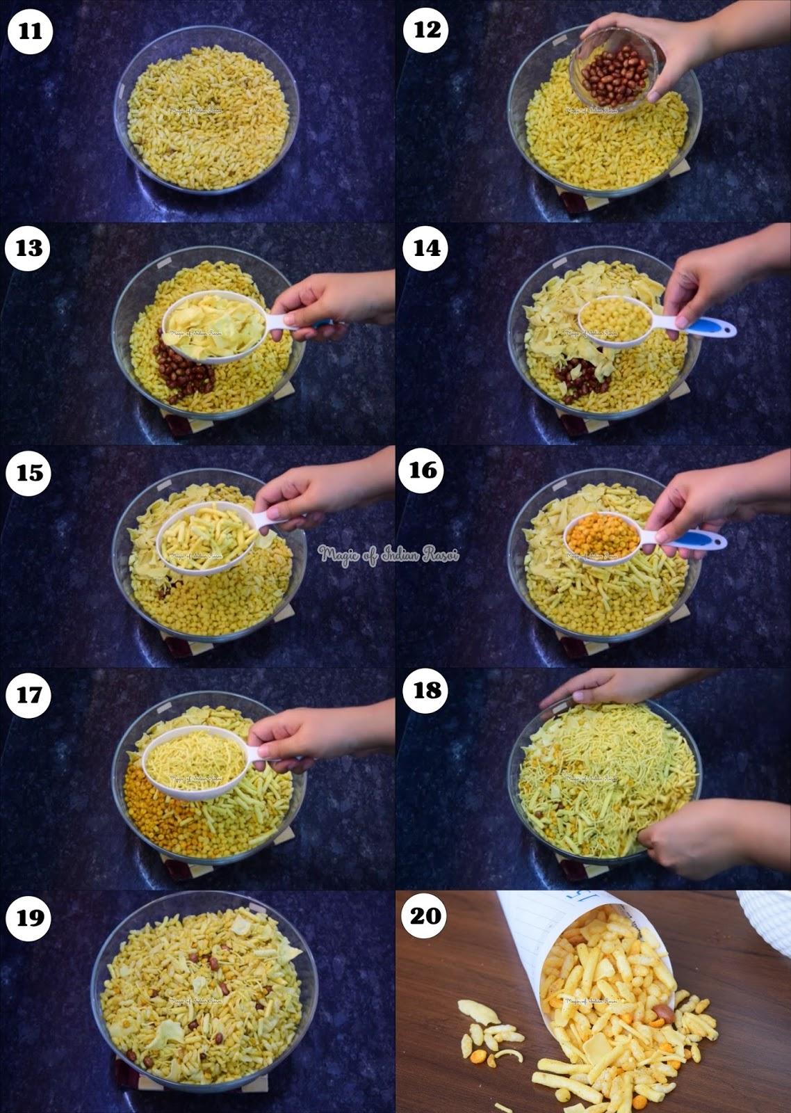 Homemade Murmura Bhel Puri Mix - Bhel Mamra Mix Recipe - मुरमुरा भेल पूरी मिक्स की रेसिपी  - Priya R - Magic of Indian Rasoi