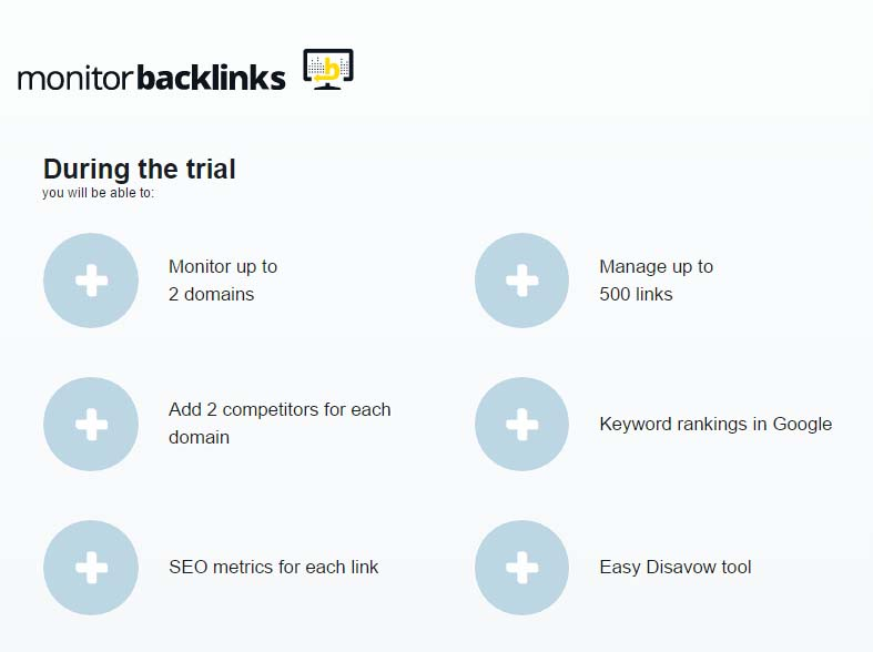 monitor backlinks free trail