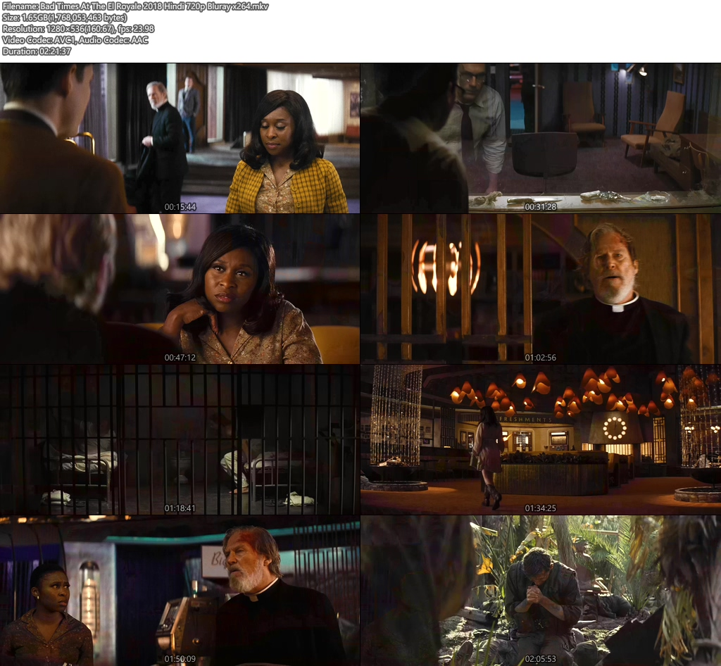 Bad Times At The El Royale 2018 Hindi 720p Bluray x264 | 480p 300MB | 100MB HEVC Screenshot