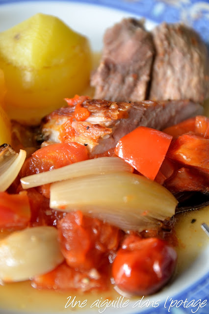 rouelle de porc à la bière et aux tomates Stéphane Reynaud