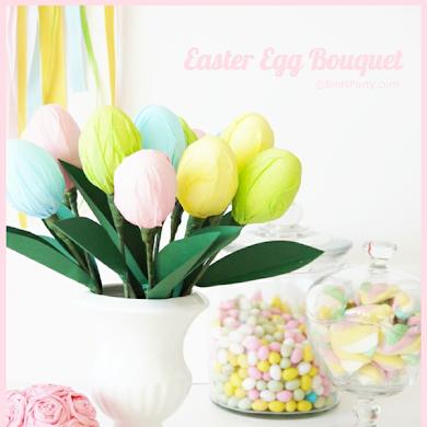 DIY Easter Egg Party Table Centerpiece Tutorial