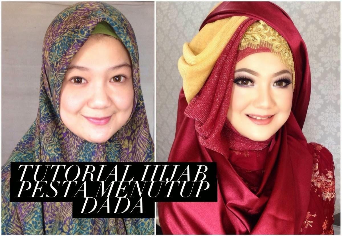 Ini Vindy Yang Ajaib Tutorial Hijab Pesta Menutup Dada