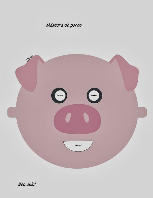 Para o post de hoje trouxe algumas máscaras de animais que já estão prontas para imprimir, basta recortar e colocar um elástico.