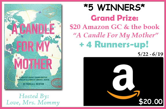 A Candle For My Mother and $20 Amazon GC Giveaway