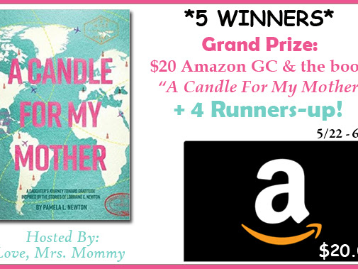 "20 Amazon Gift Card & ""A Candle For My Mother"" Giveaway!"