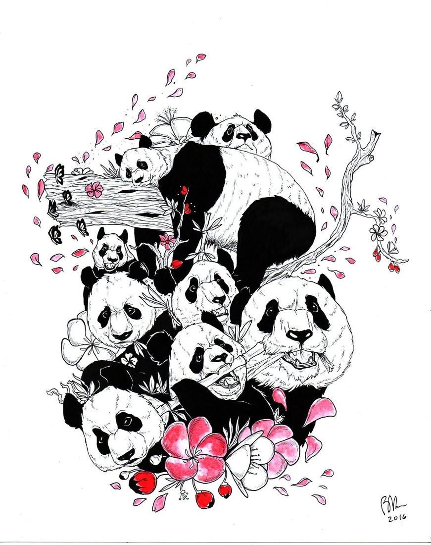 07-Panda-Braulio-Monteiro-Black-and-White-Drawings-and-Watercolor-Paintings-that-tell-a-Story-www-designstack-co