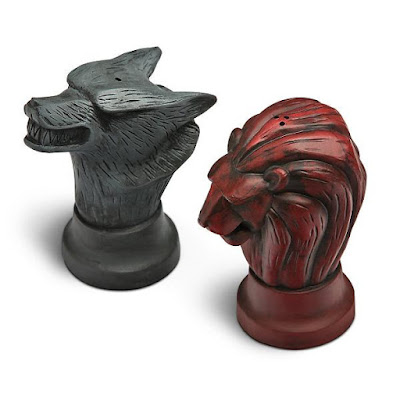 Stark and Lannister Salt and Pepper Shakers
